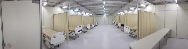 Comando de Engenharia realiza vistoria em Hospital de Campanha, em Fortaleza