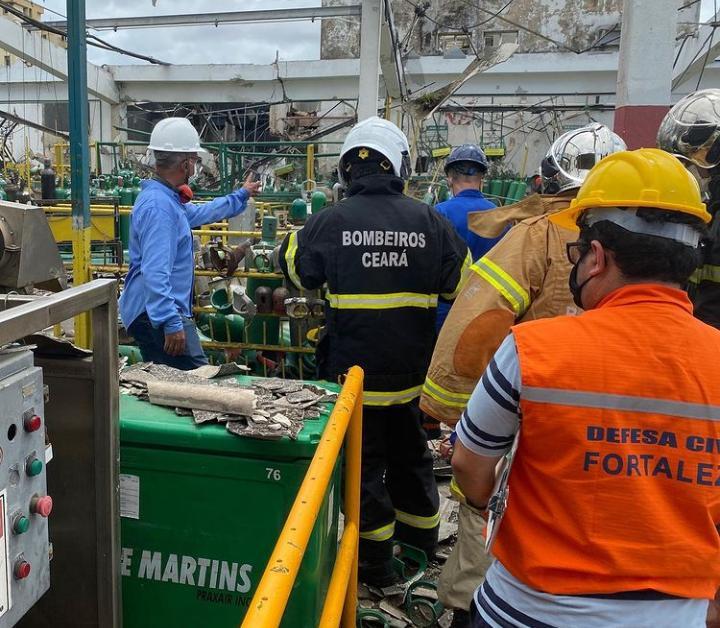 Forças de Segurança atuam em explosão de indústria de gases e engenharia