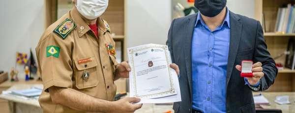 Corpo de Bombeiros recebe visita do Secretário Executivo da SSPDS/CE