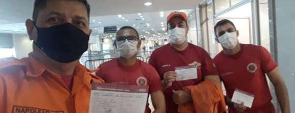 No Dia do Trabalho, mais um grupo de profissionais da Segurança Pública recebem imunização contra a Covid-19