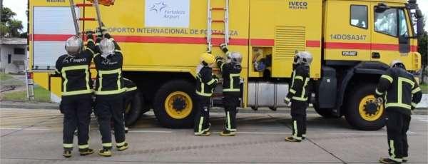 Bombeiros do Aeródromo (6ªCia/1ºBBM) realizam treinamento de Circuito de Resgate