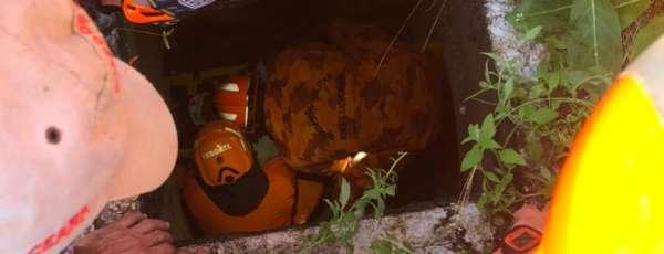 Corpo de Bombeiros resgata vítima de queda em bueiro
