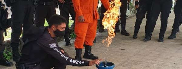 Corpo de Bombeiros realiza instrução de Combate à Incêndio para Policiais Penais, em Itaitinga