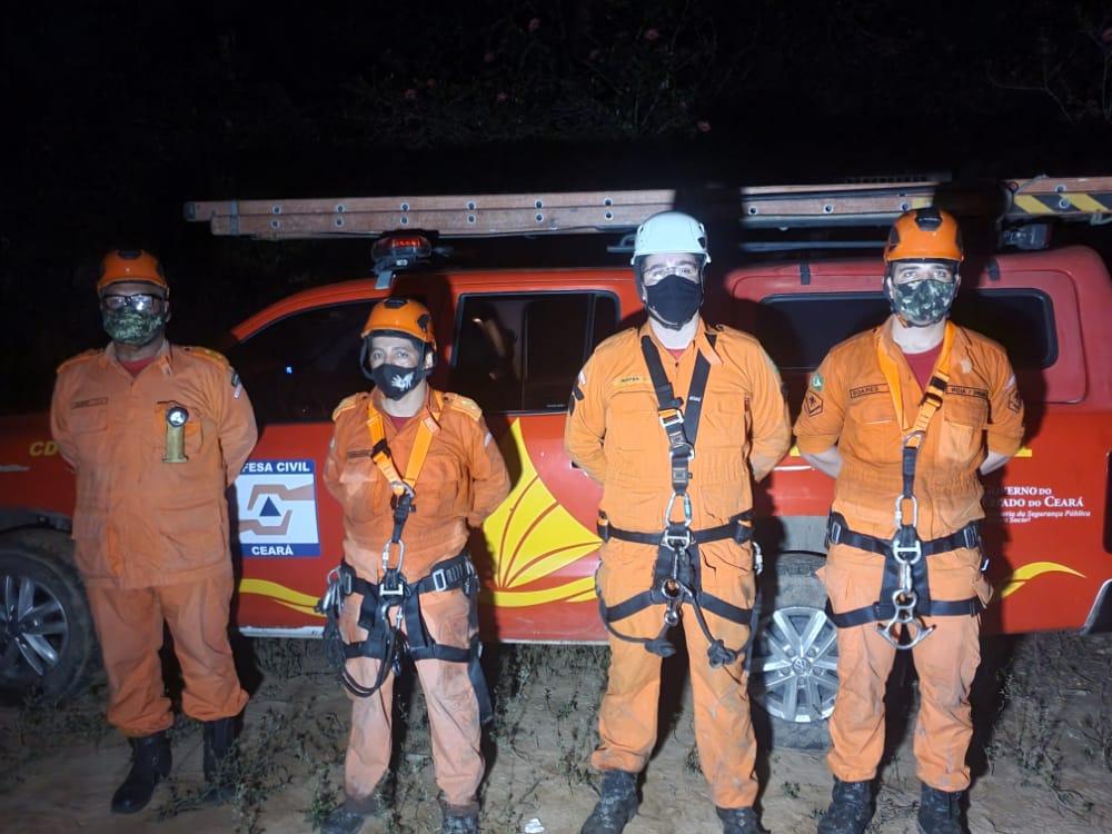 Corpo de Bombeiros resgata corpo de agricultor desaparecido em São Benedito