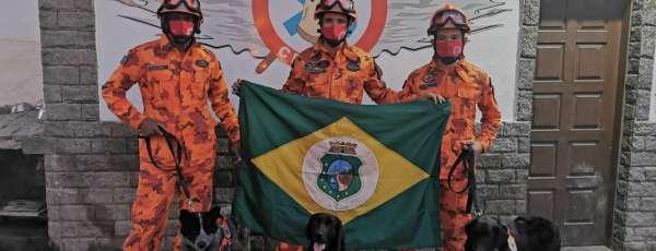 Cães de Busca e Resgate do Corpo de Bombeiros alcançam Certificação Nacional, na cidade de Magé/RJ