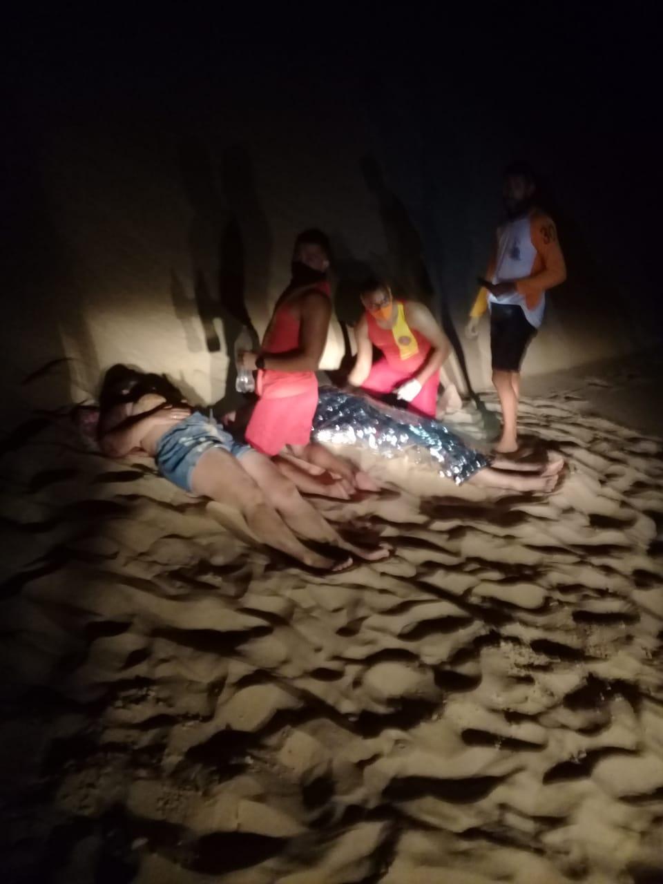 Bombeiros atuam em acidente de quadriciclo nas dunas do Aracati