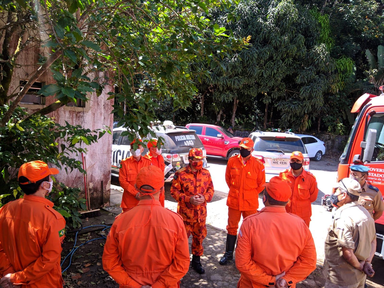 Comando do Corpo de Bombeiros do Ceara visita 5ªCia/4ºBBM em Guaramiranga