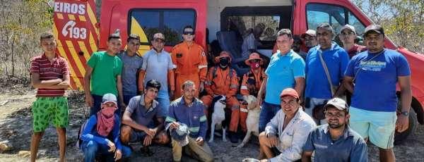 Corpo de Bombeiros atua no resgate de idoso desaparecido em Canindé