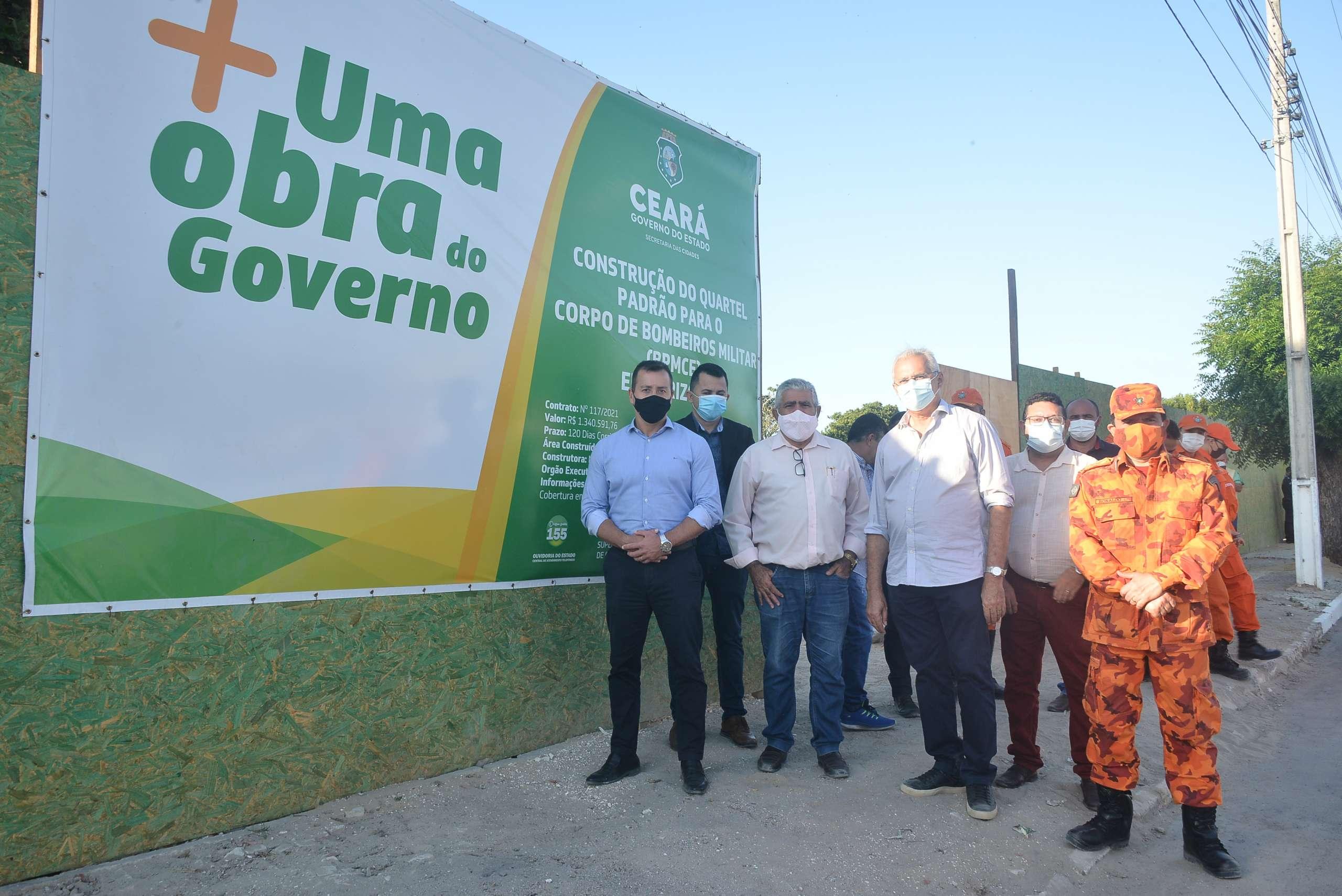 Governo do Estado assina ordem de serviço para construção de quartel padrão para o CBMCE em Horizonte