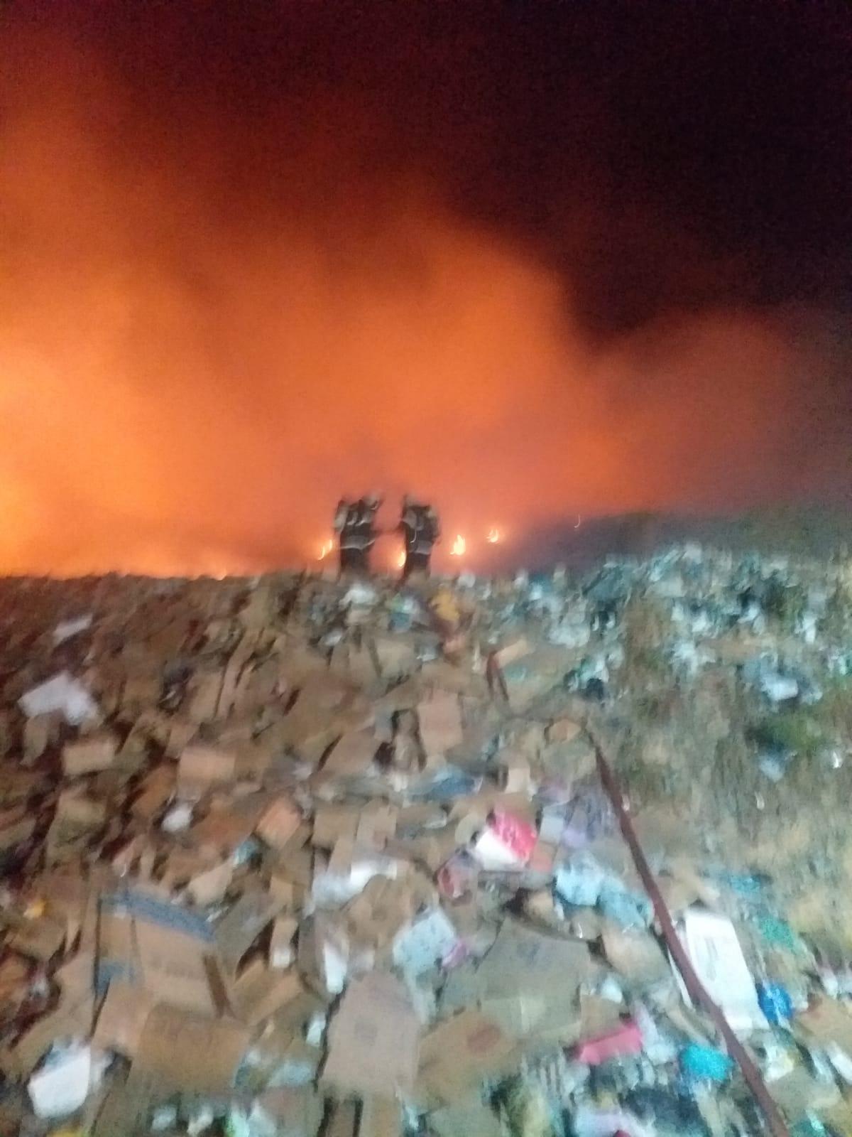 CBMCE incêndio em aterro sanitário Horizonte