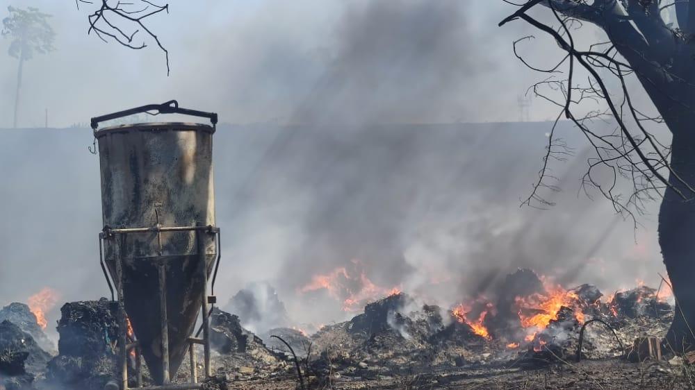 CBMCE incêndio em reciclagem