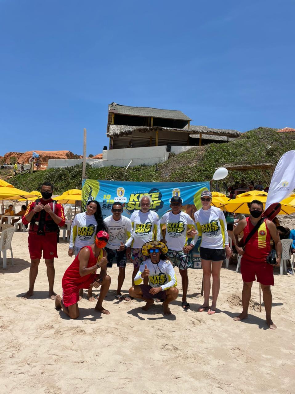 Corpo de Bombeiros realiza prevenção do 3º Campeonato de KiteSurf