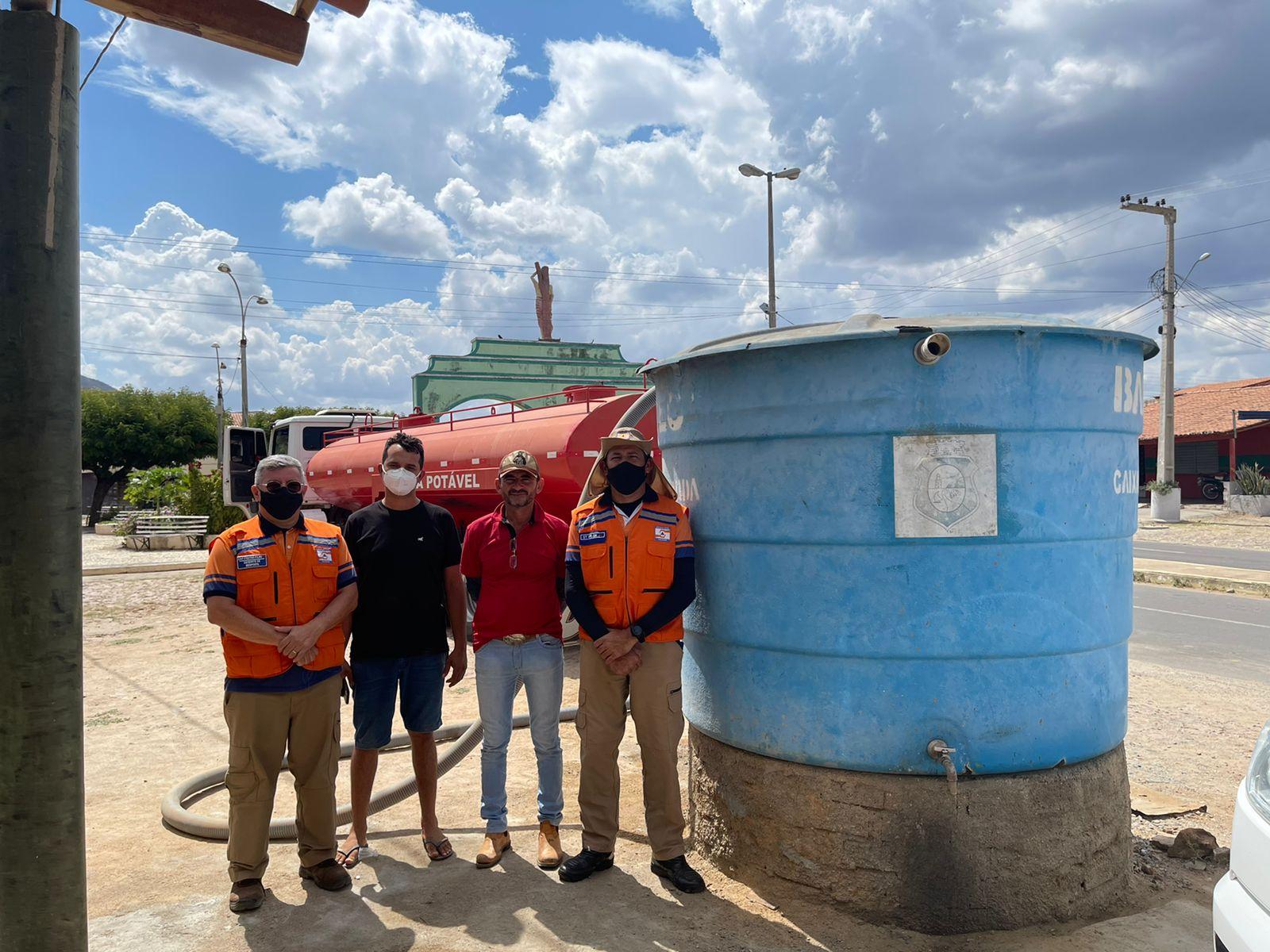 Corpo de Bombeiros inicia Operação Carro-Pipa em Pedra Branca e Monsenhor Tabosa