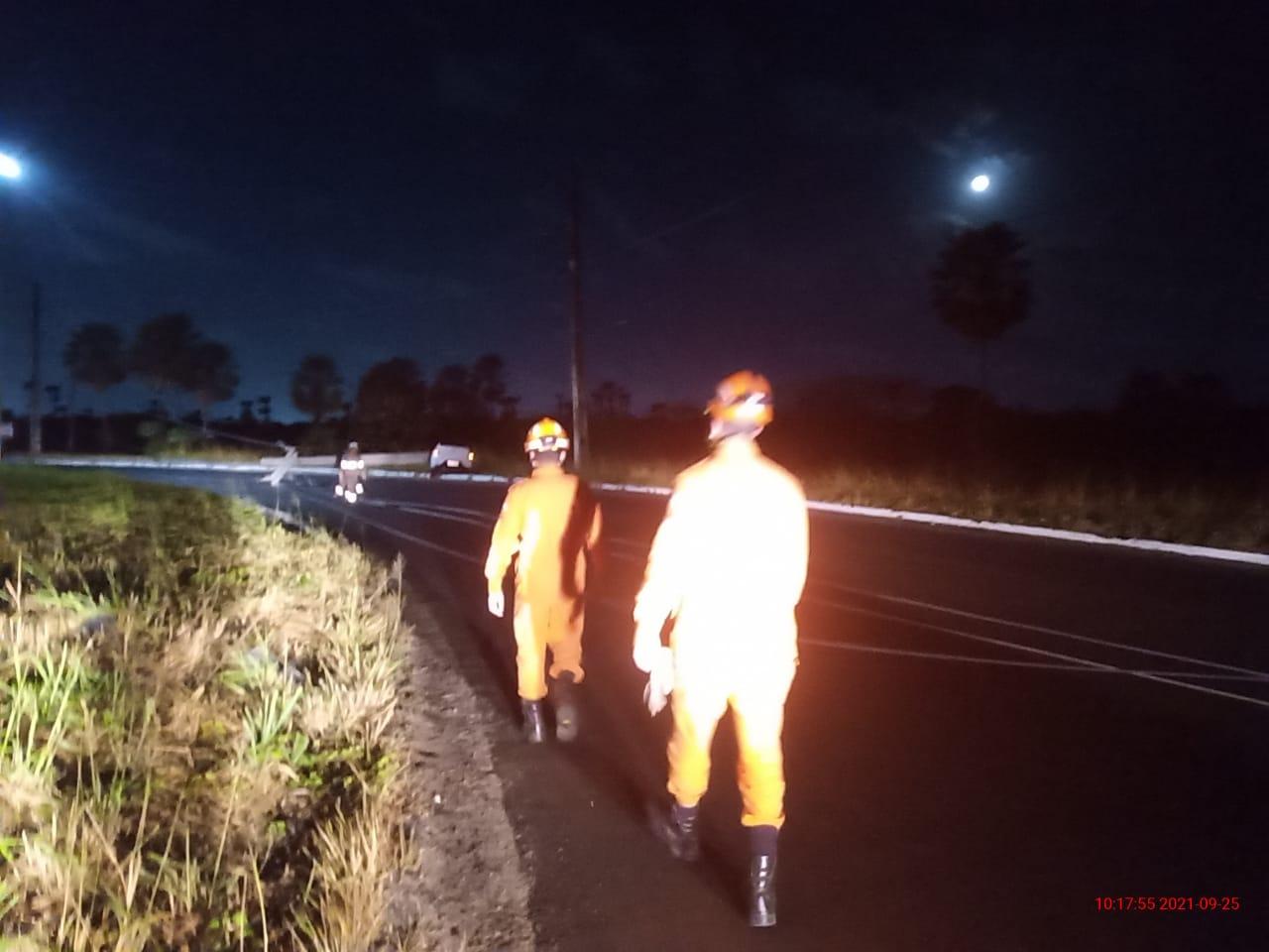Bombeiros de Maracanaú atendem ocorrência na Pacatuba