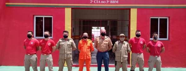 Comando de Bombeiros do Interior visita Unidades Operacionais