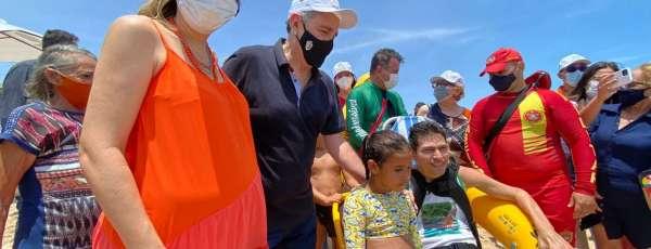 Praia de Majorlândia, em Aracati, recebeu terceira estação do Praia Acessível no Ceará
