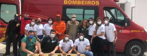 Corpo de Bombeiros participa da SIPAT da UPA de Sobral