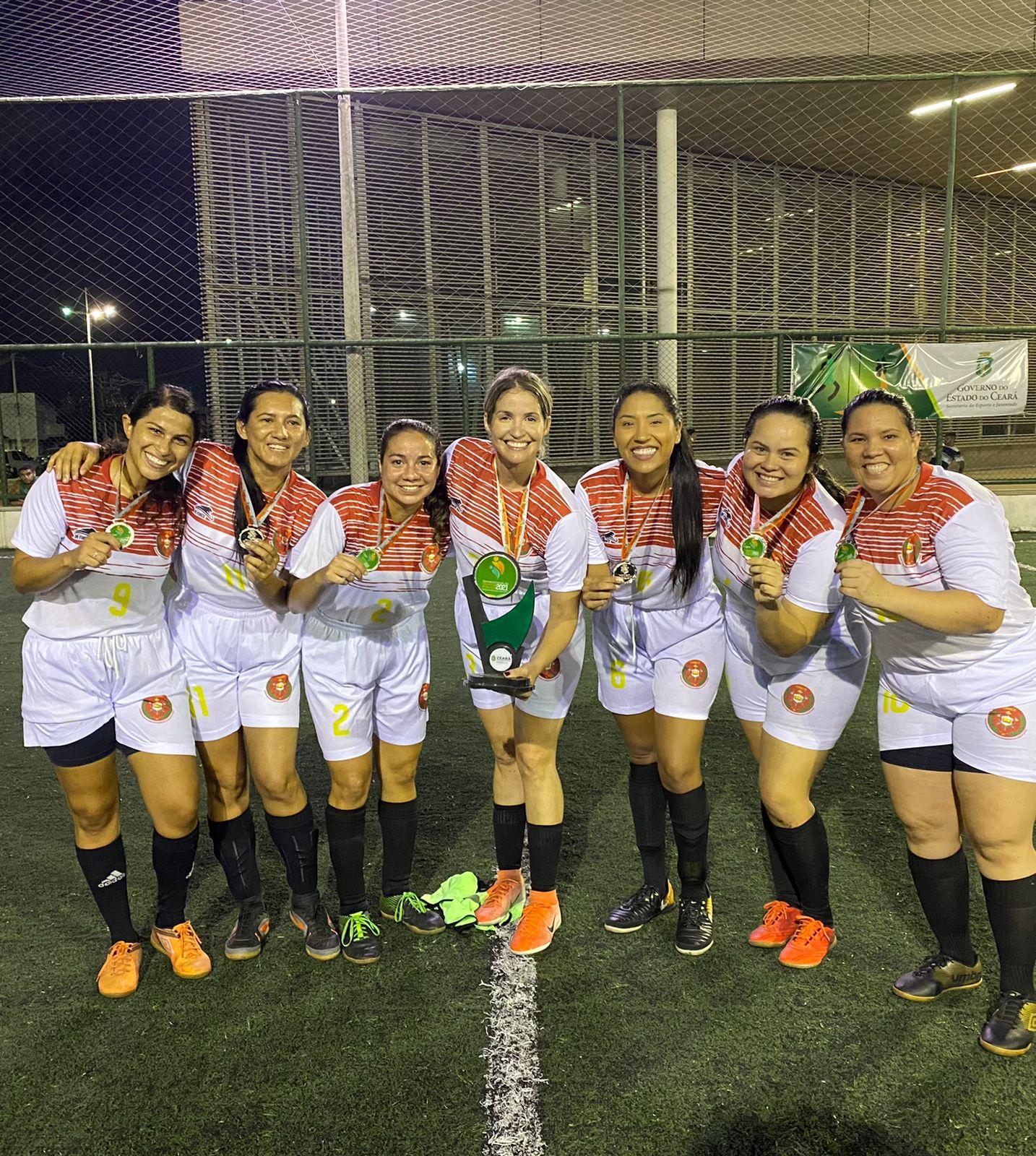Equipe feminina do Corpo de Bombeiros sagrou-se 2º lugar no 2º Torneio de Futebol Society dos Servidores